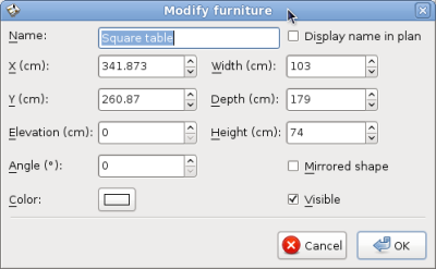 Modify Table Properties